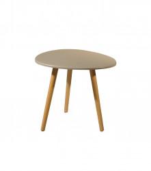 Petite table scandinave en forme de galet grise