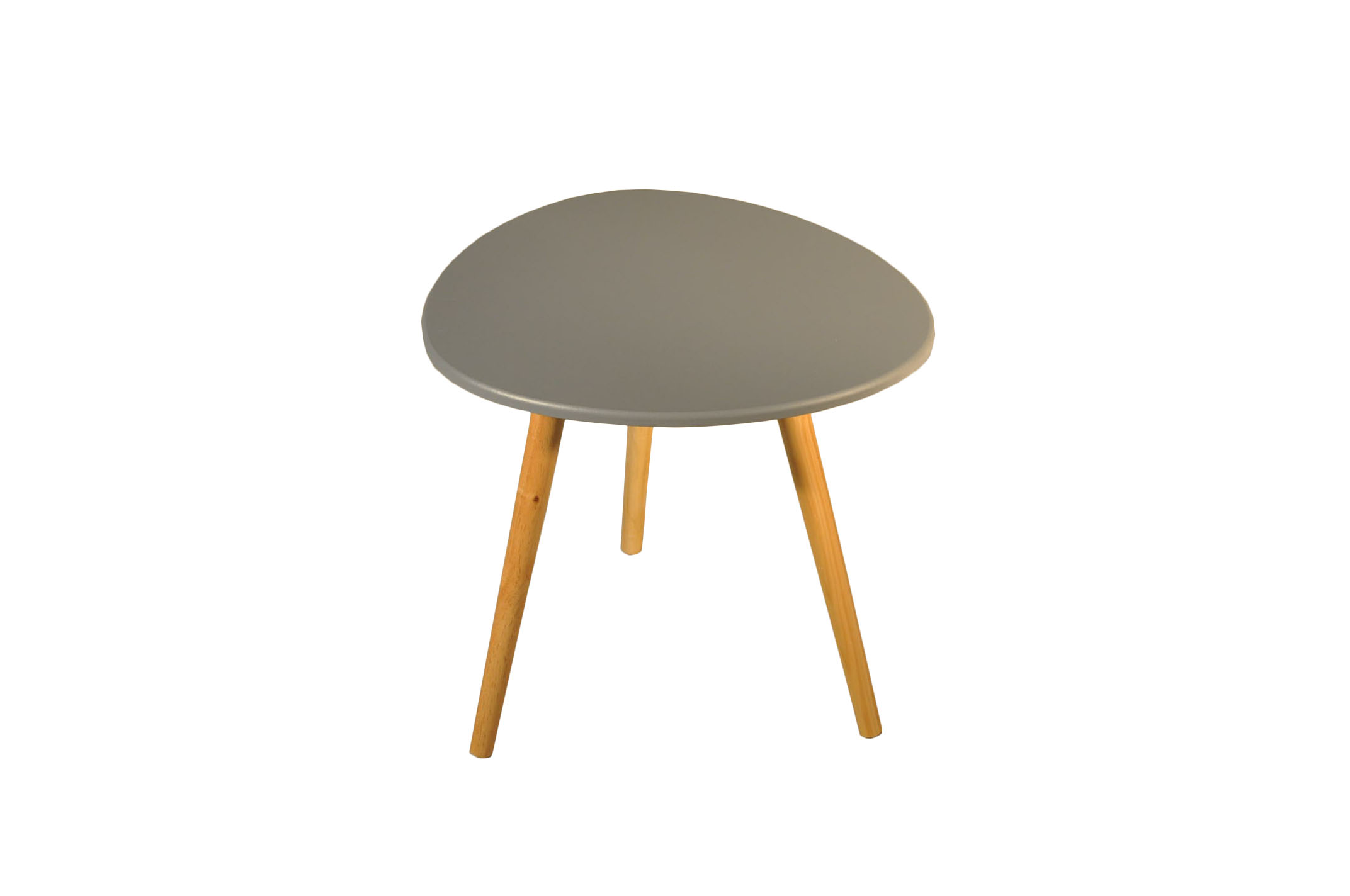 Table scandinave galet gris souris demeure et jardin - Table basse transformable table haute ...