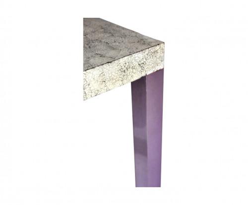 Tables Gigogne design laque coquille d'oeuf