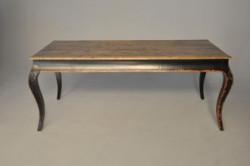 Table rectangulaire bois noir laqué