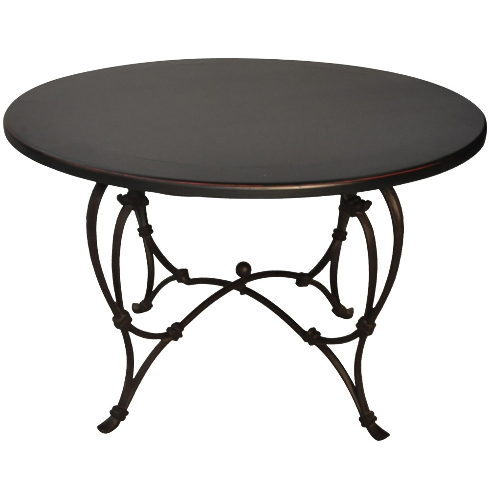 Awesome table de jardin ronde occasion contemporary for Table ronde metal