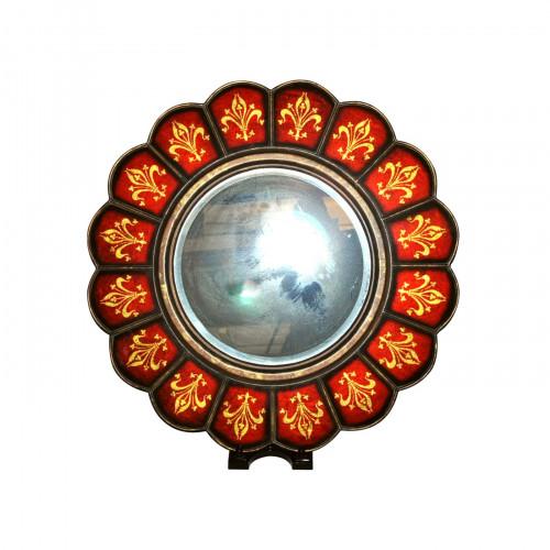 Glace rouge soleil demeure et jardin for Glace soleil miroir