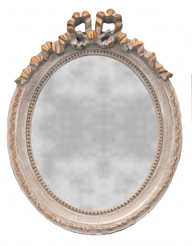 Petit Miroir Oval style Louis XVI - 27 x 35 cm
