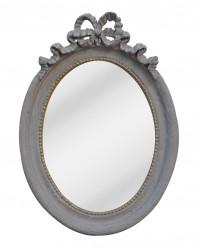 Miroir Gris Style Louis XVI de forme ovale - 40 x 60 cm