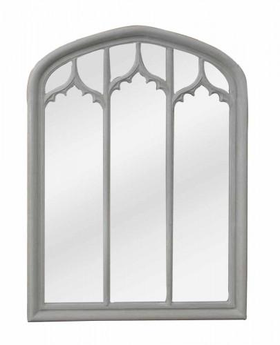Grand Miroir Gris en Triptyque de Style Gothique - 120 x160 cm