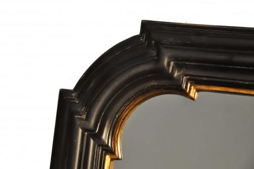 Miroir gothique noir et or  - 56 x 66 cm