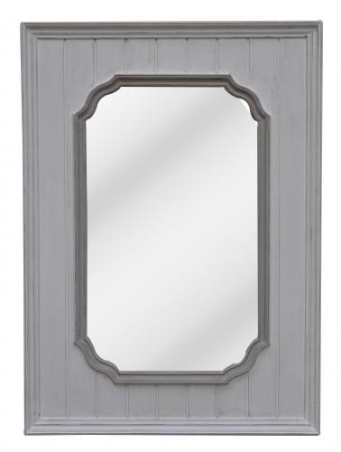 Miroir Boiserie blanc patine - 80 x 110 cm
