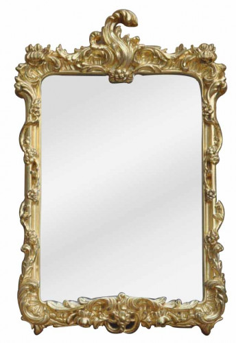 Miroir Baroque doré à coquille - 40 x 67 cm