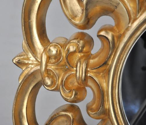 Miroir Baroque Dore Italien rond
