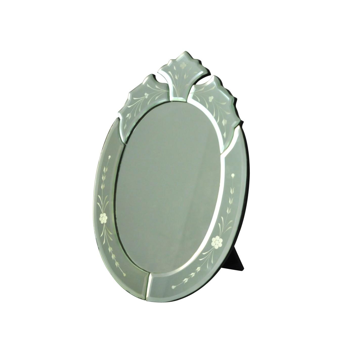 miroir ovale glace de venise demeure et jardin. Black Bedroom Furniture Sets. Home Design Ideas