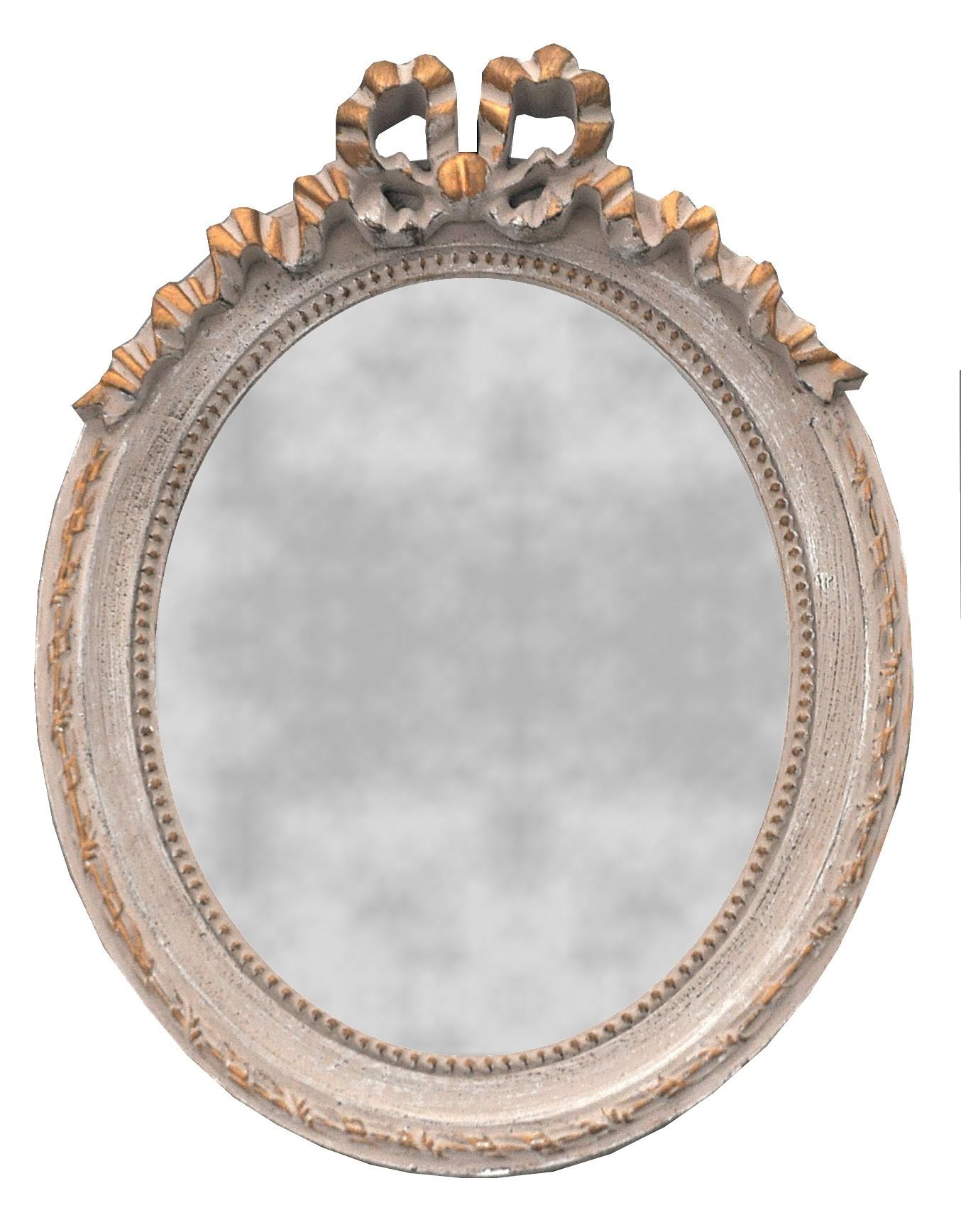 Petit miroir oval style louis xvi 27 x 35 cm demeure Petit miroir decoratif