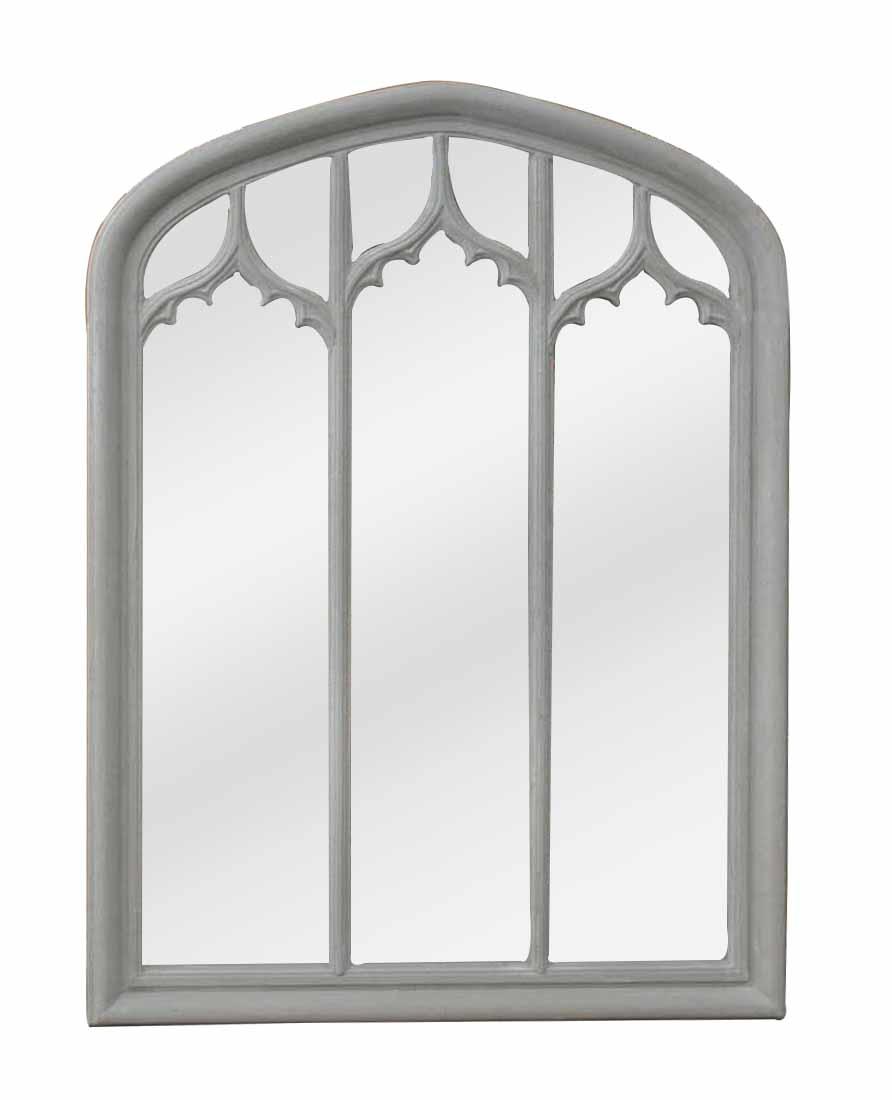 Grande glace grise en triptyque de style gothique for Grande glace miroir