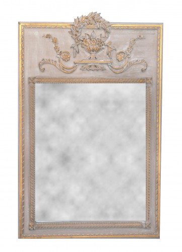 Trumeau style Louis XVI beige taupe