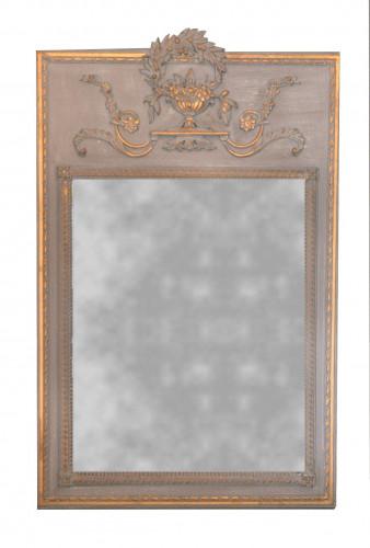Miroir Trumeau Beige de style Louis XVI - 87 x 132 cm