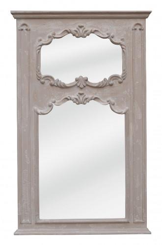 Miroir Trumeau Patine Ivoire vieilli - 88 x 151 cm