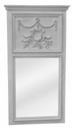 Miroir Trumeau de style Louis XVI Stone Grey - 65 x 120 cm