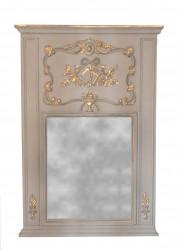 Miroir Trumeau style Louis XVI gris - 90 x 136 cm
