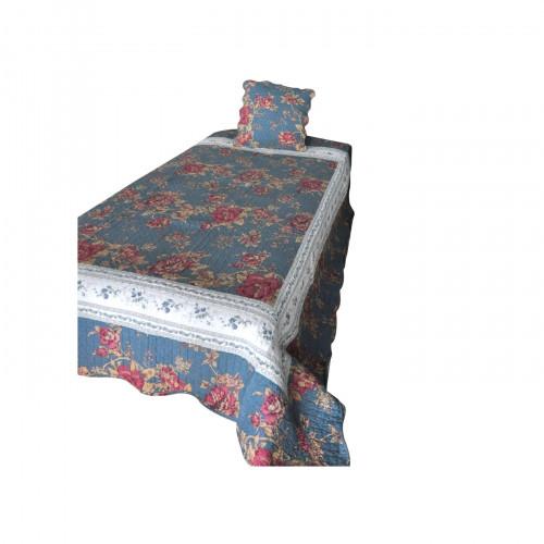 boutis de lit 1 personne bleu demeure et jardin. Black Bedroom Furniture Sets. Home Design Ideas